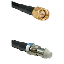 SMA Reverse Thread Male on RG142 to FME Female Cable Assembly