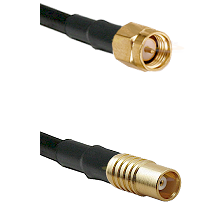 SMA Reverse Thread Male on RG142 to MCX Female Cable Assembly