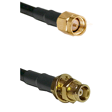 SMA Reverse Thread Male on RG142 to MCX Female Bulkhead Cable Assembly