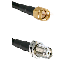 SMA Reverse Thread Male on RG142 to Mini-UHF Female Cable Assembly