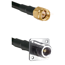SMA Reverse Thread Male on RG142 to N 4 Hole Female Cable Assembly