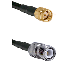 SMA Reverse Thread Male on RG393 to TNC Reverse Polarity Female Cable Assembly