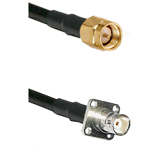 SMA Reverse Thread Male on RG400 to BNC 4 Hole Female Cable Assembly