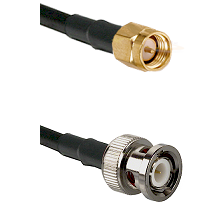 SMA Reverse Thread Male on RG400 to BNC Male Cable Assembly