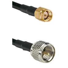 SMA Reverse Thread Male on RG400 to Mini-UHF Male Cable Assembly