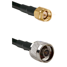 SMA Reverse Thread Male on RG58C/U to N Male Cable Assembly