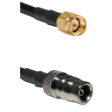 SMA Reverse Thread Male on RG58C/U to QN Female Cable Assembly