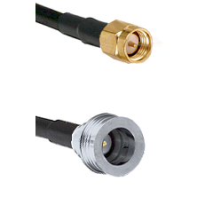 SMA Reverse Thread Male on RG58C/U to QN Male Cable Assembly