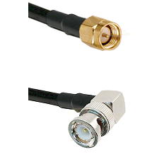 SMA Reverse Thread Male on RG58C/U to BNC Right Angle Male Cable Assembly