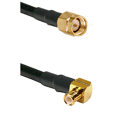 SMA Reverse Thread Male on RG58C/U to MCX Right Angle Male Cable Assembly