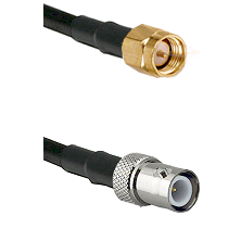 SMA Reverse Thread Male on RG58C/U to BNC Reverse Polarity Female Cable Assembly