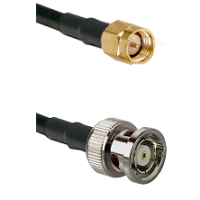 SMA Reverse Thread Male on RG58C/U to BNC Reverse Polarity Male Cable Assembly