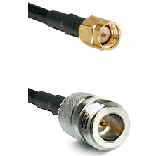 SMA Reverse Thread Male on RG58C/U to N Reverse Polarity Female Cable Assembly