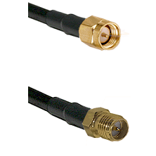 SMA Reverse Thread Male on RG58C/U to SMA Reverse Polarity Female Cable Assembly