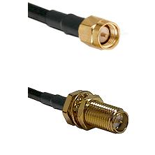 SMA Reverse Thread Male on RG58C/U to SMA Reverse Polarity Female Bulkhead Cable Assembly