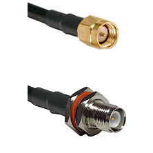 SMA Reverse Thread Male on RG58 to TNC Reverse Polarity Female Bulkhead Cable Assembly