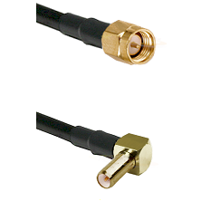 SMA Reverse Thread Male on RG58C/U to SLB Right Angle Male Cable Assembly
