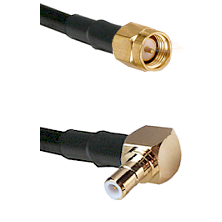 SMA Reverse Thread Male on RG58C/U to SMB Right Angle Male Cable Assembly