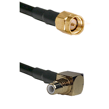 SMA Reverse Thread Male on RG58C/U to SMC Right Angle Male Cable Assembly