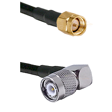SMA Reverse Thread Male on RG58C/U to TNC Right Angle Male Cable Assembly