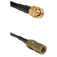 SMA Reverse Thread Male on RG58C/U to SLB Female Cable Assembly