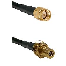 SMA Reverse Thread Male on RG58C/U to SLB Female Bulkhead Cable Assembly