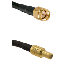 SMA Reverse Thread Male on RG58C/U to SLB Male Cable Assembly
