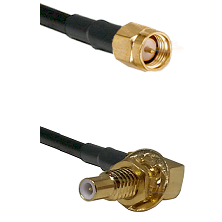 SMA Reverse Thread Male on RG58C/U to SLB Male Bulkhead Cable Assembly