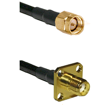 SMA Reverse Thread Male on RG58C/U to SMA 4 Hole Female Cable Assembly