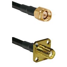 SMA Reverse Thread Male on RG58C/U to SMA 4 Hole Female Cable Assembly