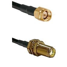 SMA Reverse Thread Male on RG58C/U to SMA Female Bulkhead Cable Assembly