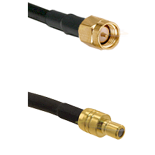 SMA Reverse Thread Male on RG58C/U to SMB Male Cable Assembly