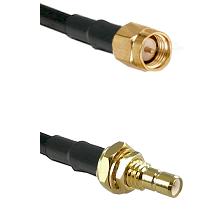 SMA Reverse Thread Male on RG58C/U to SMB Male Bulkhead Cable Assembly
