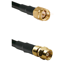 SMA Reverse Thread Male on RG58C/U to SMC Male Cable Assembly