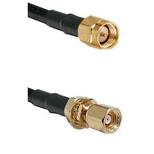SMA Reverse Thread Male on RG58C/U to SMC Female Bulkhead Cable Assembly