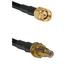 SMA Reverse Thread Male on RG58C/U to SMC Male Bulkhead Cable Assembly