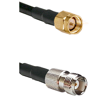 SMA Reverse Thread Male on RG58C/U to TNC Female Cable Assembly