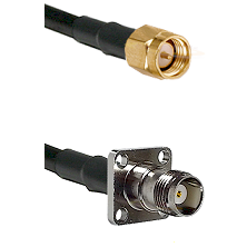 SMA Reverse Thread Male on RG58C/U to TNC 4 Hole Female Cable Assembly