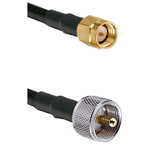 SMA Reverse Thread Male on RG58C/U to UHF Male Cable Assembly