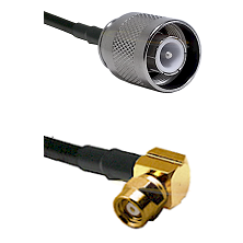 SC Male on LMR-195-UF UltraFlex to SMC Right Angle Female Cable Assembly