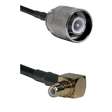 SC Male on LMR-195-UF UltraFlex to SMC Right Angle Male Cable Assembly