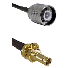 SC Male on RG142 to 10/23 Female Bulkhead Cable Assembly