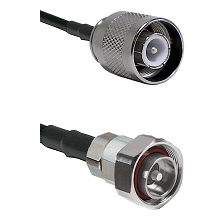 SC Male on RG142 to 7/16 Din Male Cable Assembly
