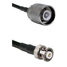 SC Male on RG142 to MHV Male Cable Assembly