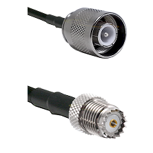 SC Male on RG142 to Mini-UHF Female Cable Assembly
