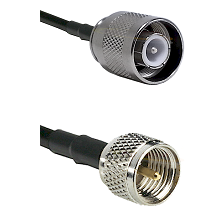 SC Male on RG142 to Mini-UHF Male Cable Assembly