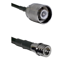 SC Male on RG142 to QMA Male Cable Assembly