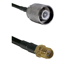 SC Male on RG142 to SMA Reverse Polarity Female Cable Assembly