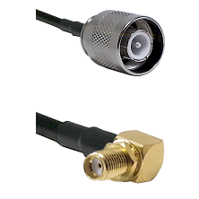 SC Male on RG142 to SMA Right Angle Female Bulkhead Cable Assembly