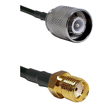 SC Male on RG142 to SMA Reverse Thread Female Cable Assembly